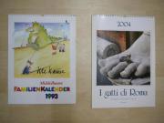 Verkaufe Wandkalender mit verschiedenen Motiven