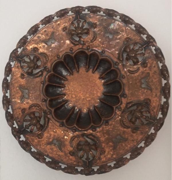 Wanddeko teller aus kupfer 33cm in pforzheim dekoartikel for Wanddeko kupfer