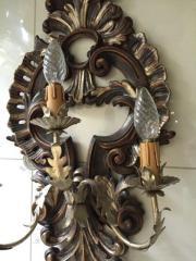 Wandlampe Holz antik
