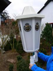 Warsteiner Außenlampe 80 cm hoch