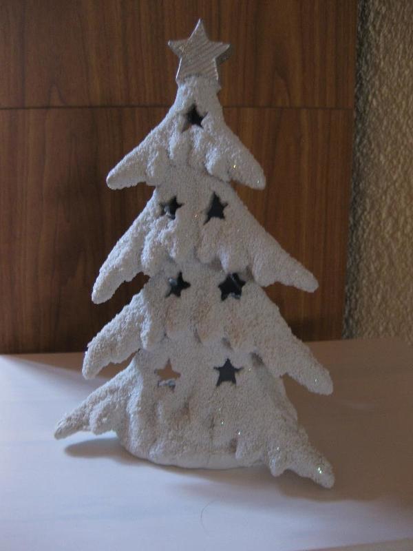 weihnachtsbaum aus keramik mit teelicht in neustadt. Black Bedroom Furniture Sets. Home Design Ideas