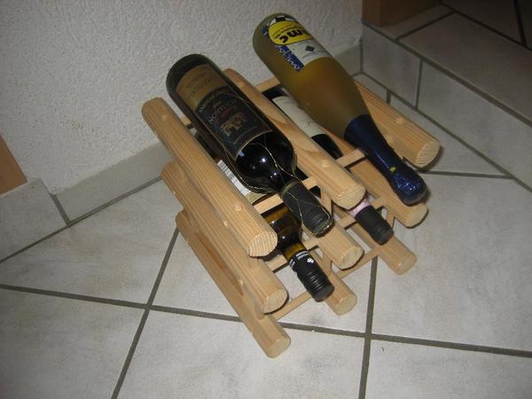 Weinregal Flaschenregal aus Holz für