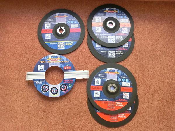 Winkelschleifer-Trennscheibenset mit » Werkzeuge, Zubehör