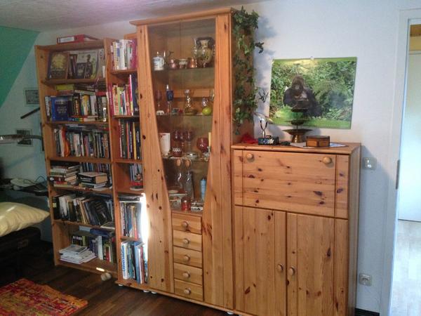 wohnwand wei holz gebraucht kaufen nur 2 st bis 60 g nstiger. Black Bedroom Furniture Sets. Home Design Ideas