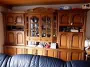 wohnzimmer-schrankwand eiche rustikal mit integrierter beleuchtung ... - Eiche Rustikal Wohnzimmer