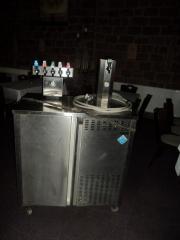 Zapfanlage mit 6 Zapfstellen Wasserdurchlaufkühlung