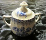 Zuckerdose China blau